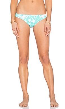 Shoshanna Beach Vine Classic Bikini Bottom in Mint & White