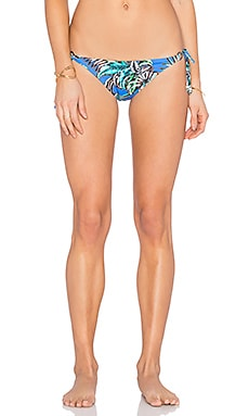 Shoshanna Tropical Palms String Bikini Bottom in Blue Multi