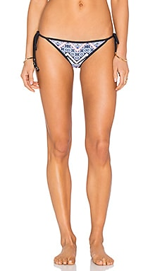 Moroccan Tile String Bikini Bottom in Blue Multi