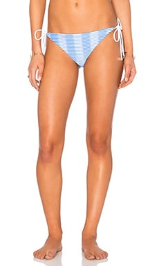 Ombre Stripe Bikini Bottom in Blue & White