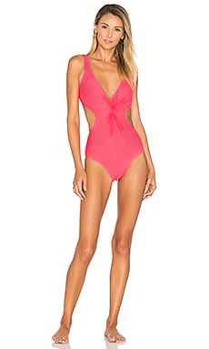 Cut Out Twist One Piece in Coral