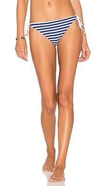 Marine Stripe String Bikini Bottom in Navy Multi