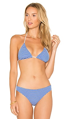 Marine Eyelet Clean Triangle Top in Marine Blue Multi