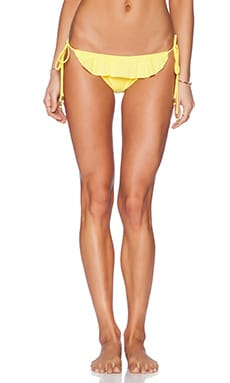 Shoshanna Lemon Ruffle String Bikini Bottom in Lemon