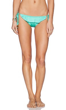 Shoshanna Spearmint Ruffle String Bikini Bottom in Spearmint
