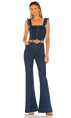 Rhea Ruffle Jumpsuit Show Me Your Mumu $174