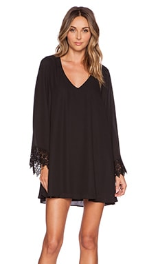 Show Me Your Mumu Portabella Dress in Black Crisp