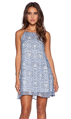 Show Me Your Mumu Katy Halter Dress in Cabo Azul Cloud