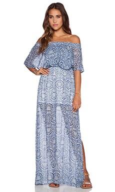 Show Me Your Mumu Hacienda Dress in Cabo Azul Cloud
