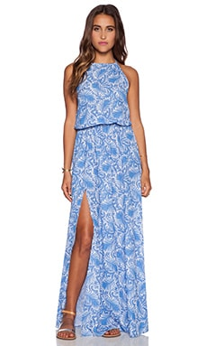 Show Me Your Mumu Heather Halter Dress in Sea Breeze