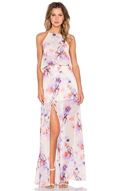 Show Me Your Mumu x REVOLVE Heather Halter Maxi in Abria's Floral