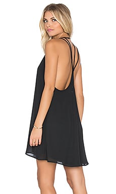 Show Me Your Mumu Martini Dress in Black Crisp