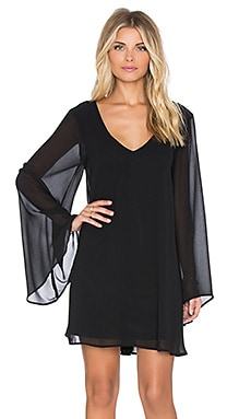 Show Me Your Mumu Gabby Low Back Dress in Black Chiffon