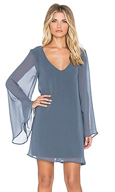 Show Me Your Mumu Gabby Low Back Dress in Storm Chiffon