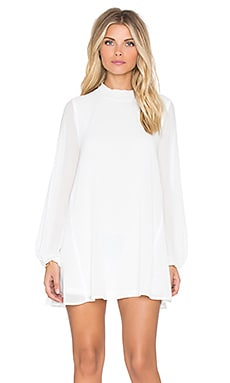 Junebug Bell Dress in Off White Chiffon