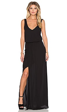 Show Me Your Mumu Kendall Maxi Dress in Black Crisp