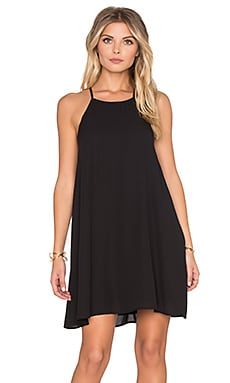 Show Me Your Mumu Gomez Mini Dress in Black Crisp