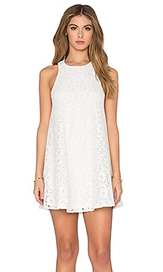 Show Me Your Mumu Ritzy Dress in Sparkle Lace White