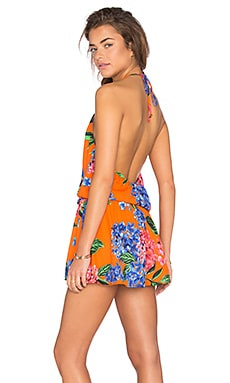 Show Me Your Mumu Hammock Halter Scrunch Dress in Bahama Bloom