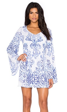 Show Me Your Mumu Runaway Mini Dress in Ryan's Sea Crest