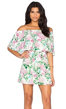 Show Me Your Mumu Casita Mini Dress in Poppies & Cream Cloud