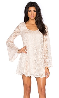 Show Me Your Mumu Saturday Swing Dress in The Buff Lace