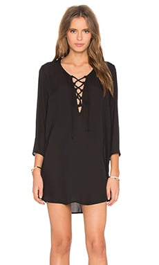 Show Me Your Mumu Lulu Tunic in Black Crisp