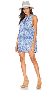 Show Me Your Mumu Garrett Tank Dress in Blue's Mus Spandy
