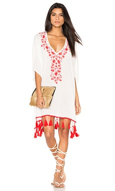 Show Me Your Mumu Mae Mu Tassel Dress in Casa Love Embroidery