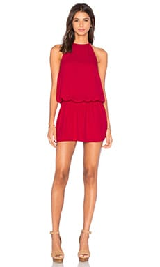 Show Me Your Mumu Hammock Halter Scrunch Dress in Sangria Crisp
