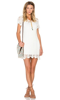 Crochet the Day Away Dress in Blonde