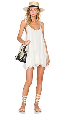 Lockett Lace Dress en Ivory & Cream Lace