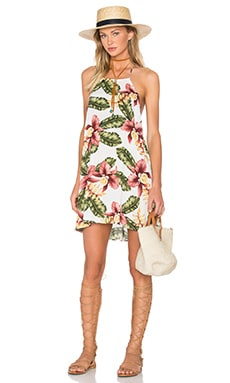 Katy Dress in Aloha Blooms Cloud