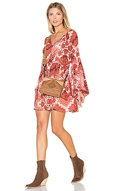 Sienna Swing Dress in Happy Henna