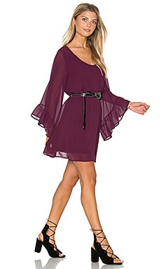 Boomerang Dress in Dark Plum Chiffon
