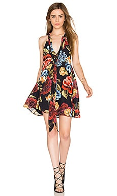 Tess Tie Front Dress in Bloom Boom
