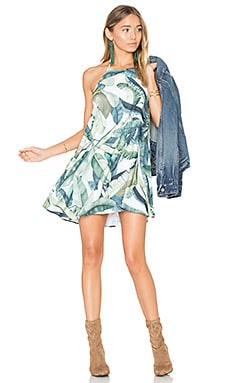 Katy Halter Dress in Banana Leaf