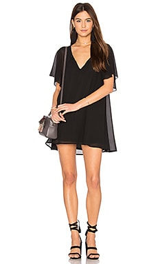 Juana Tassel Tunic in Black Chiffon