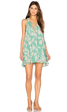 Rancho Mirage Lace Up Dress in Jadely Paisley