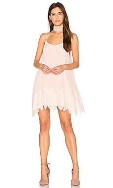 Lockett Lace Mini Dress in Light Pink Lace