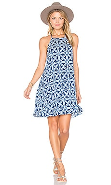 Katy Halter Dress in Wagon Wheel Cloud