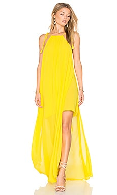Rochester Maxi Dress in Daffodil Chiffon