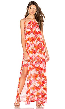 Rochester Maxi Dress in Hot Magma