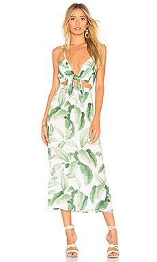 Купить Макси платье с завязкой moby - Show Me Your Mumu, С вырезом, США, Белый