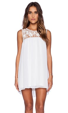 Show Me Your Mumu Baskin Mini Dress in White Crisp