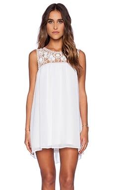 Show Me Your Mumu Baskin Mini Dress in White Crisp