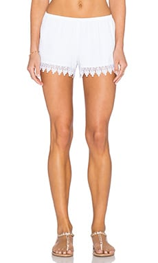 Show Me Your Mumu Bri Lacey Short in White Crisp