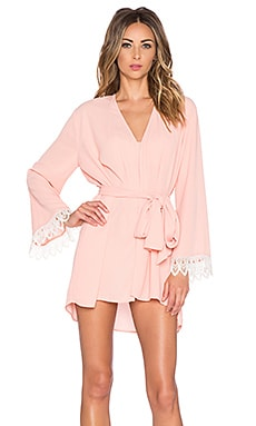 Show Me Your Mumu Honey Mumu Kimono in Peach Crisp