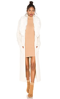 Lombardi Faux Fur Long Cardigan Show Me Your Mumu $172