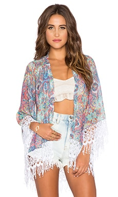Show Me Your Mumu Alsten Kimono in Great Barrier Reef